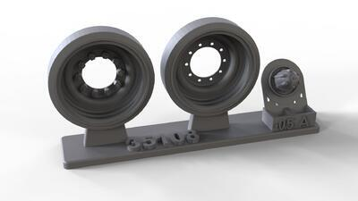 35108 Steel wheels for M88, complete set with 14 wheels