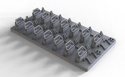 35198 Handles for US post war armor - workable version, included 56 handles