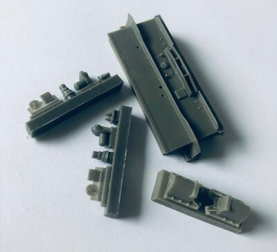 E35044 Rear armor for Pz.IV J chassis and derivates with late idler wheels base, Tamiya kits