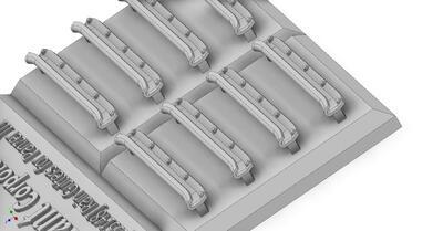 E35148 Rain turret gutters for Pz.III, for 5 vehicles - 2